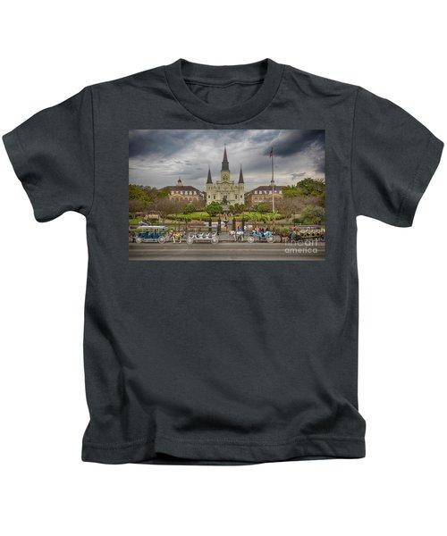 New Orleans Jackson Square Kids T-Shirt