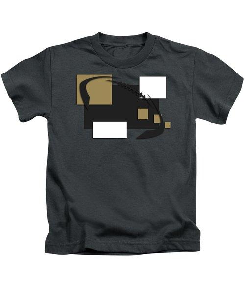 New Orleans Saints Abstract Shirt Kids T-Shirt by Joe Hamilton