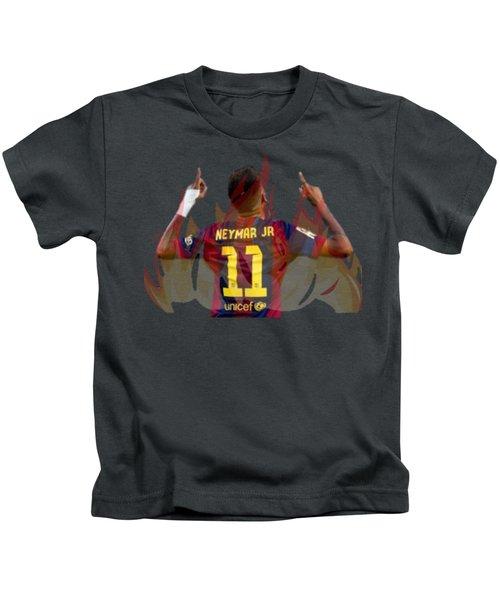 Neymar Kids T-Shirt by Vincenzo Basile