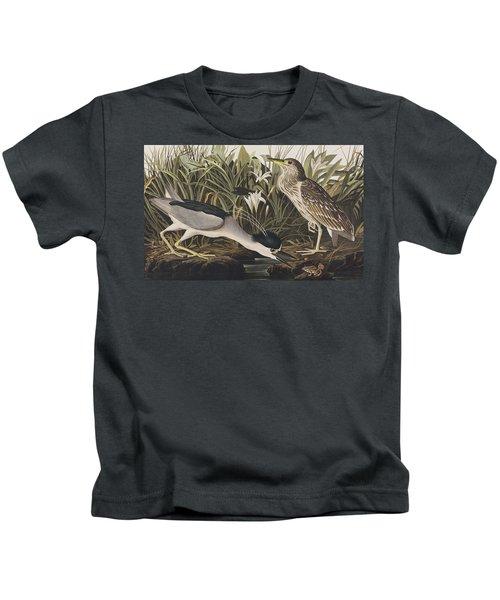 Night Heron Or Qua Bird Kids T-Shirt