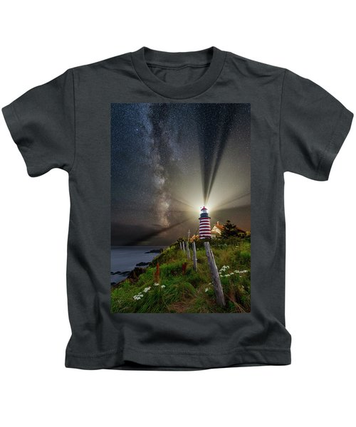 Night Over West Quoddy Kids T-Shirt