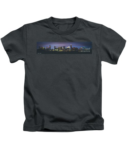 Night View Of Downtown Skyline In Winter Kids T-Shirt