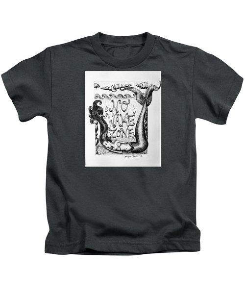 No Wake Zone, Mermaid Kids T-Shirt