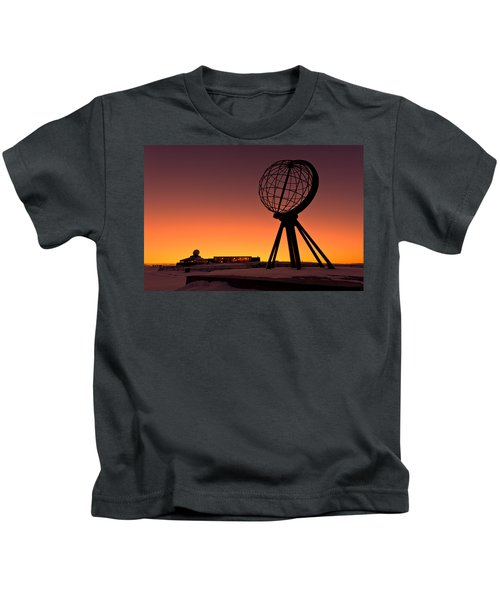 North Cape Norway At The Northernmost Point Of Europe Kids T-Shirt