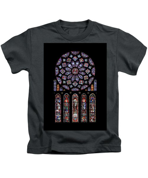 North Rose Window Of Chartres Cathedral Kids T-Shirt