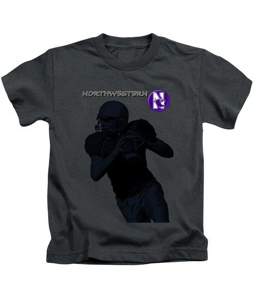Northwestern Football Kids T-Shirt by David Dehner