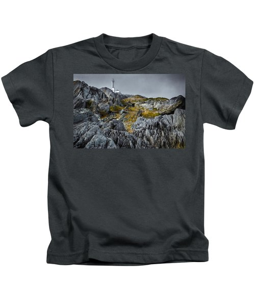 Nova Scotia's Rocky Shore Kids T-Shirt