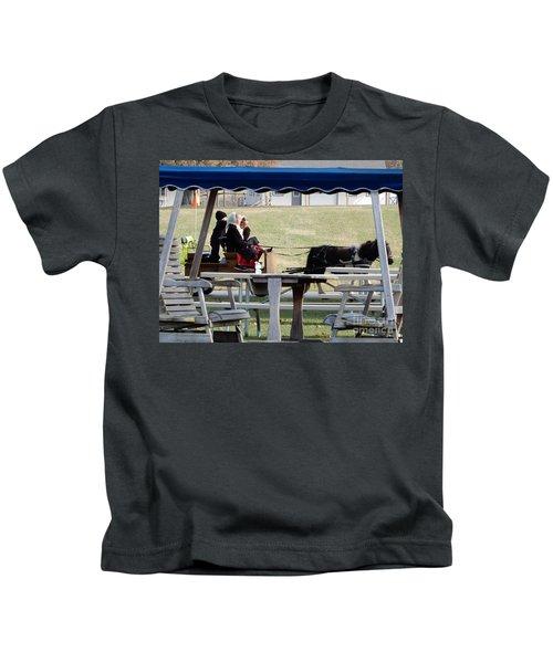November Pony Cart Fun Kids T-Shirt