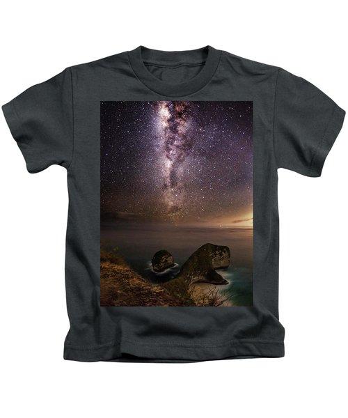 Nusa Penida Beach At Night Kids T-Shirt