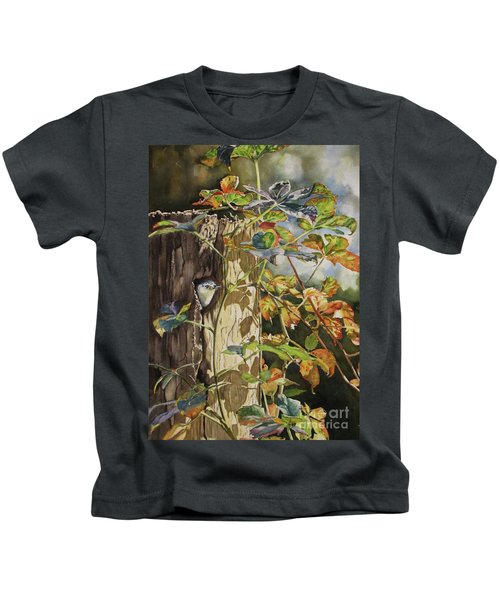 Nuthatch And Creeper Kids T-Shirt