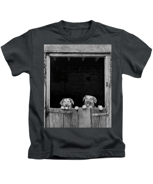Nz Huntaways, Forever Happy And Nosey. Working Sheep Dogs Kids T-Shirt