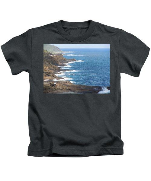 Oahu Coastline Kids T-Shirt