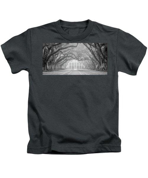 Oak Alley Fog Kids T-Shirt