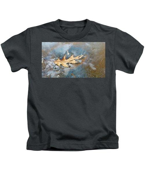 Oak Leaf Frozen On Ice Kids T-Shirt