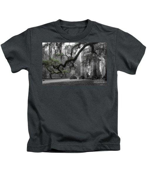 Oak Limb At Old Sheldon Church Kids T-Shirt
