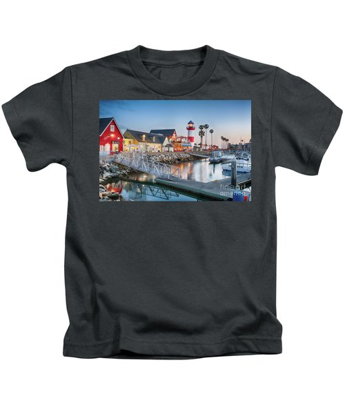 Oceanside Harbor Village At Dusk Kids T-Shirt