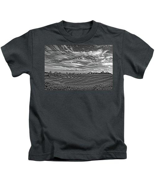 October Patterns Bw Kids T-Shirt