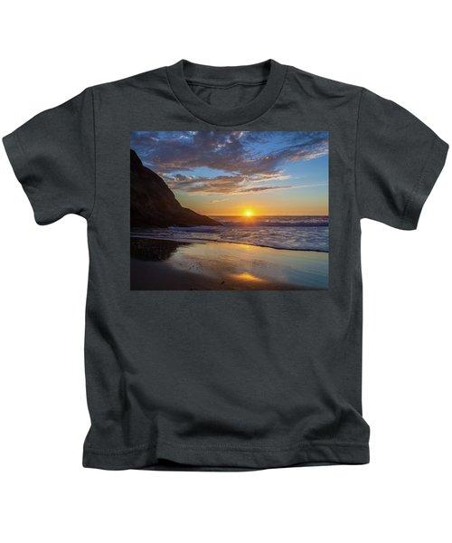 October Sunset Strands Beach Kids T-Shirt