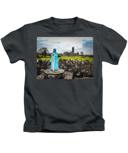 Official Greeter At Ireland's Quin Abbey National Monument Kids T-Shirt