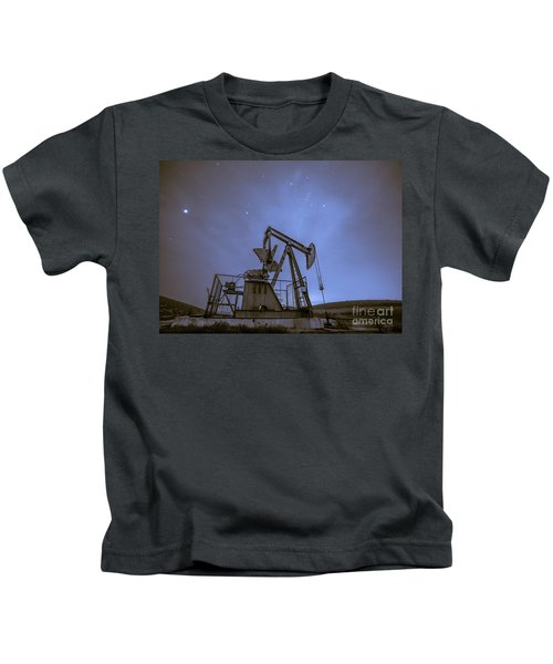 Oil Rig And Stars Kids T-Shirt