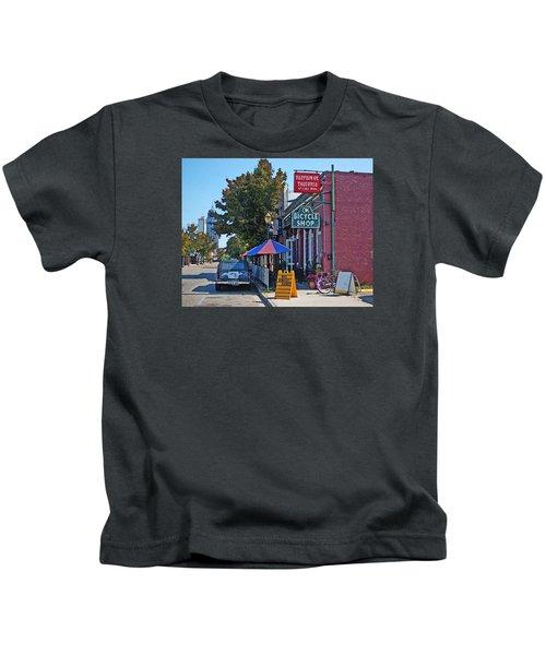 Ok Bicycle Yellow Sign Kids T-Shirt