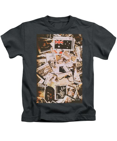 Old Australia In Stamps Kids T-Shirt
