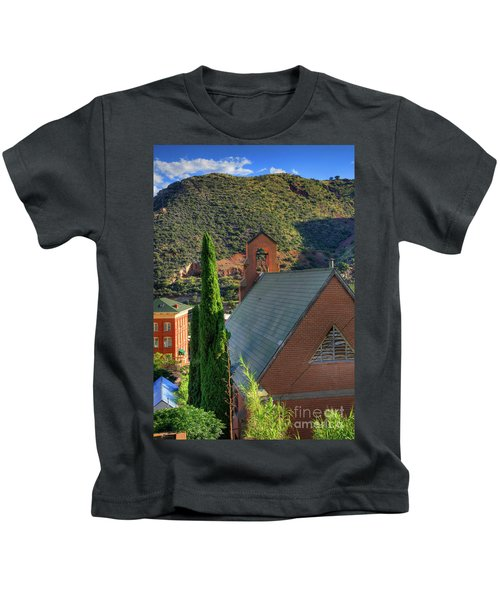 Old Church In Bisbee Kids T-Shirt