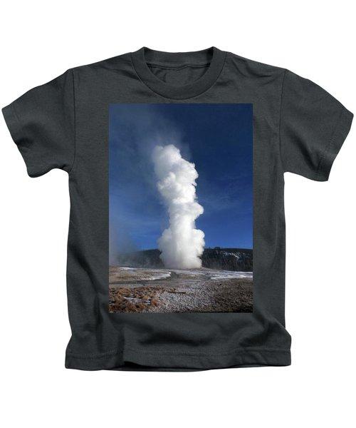 Old Faithful In Winter 2 Kids T-Shirt