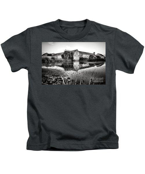 Old Farm And Pond In France Kids T-Shirt
