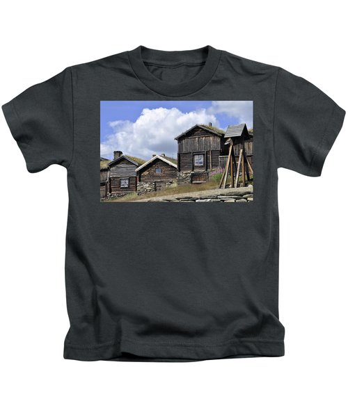 Old Houses In Roeros Kids T-Shirt