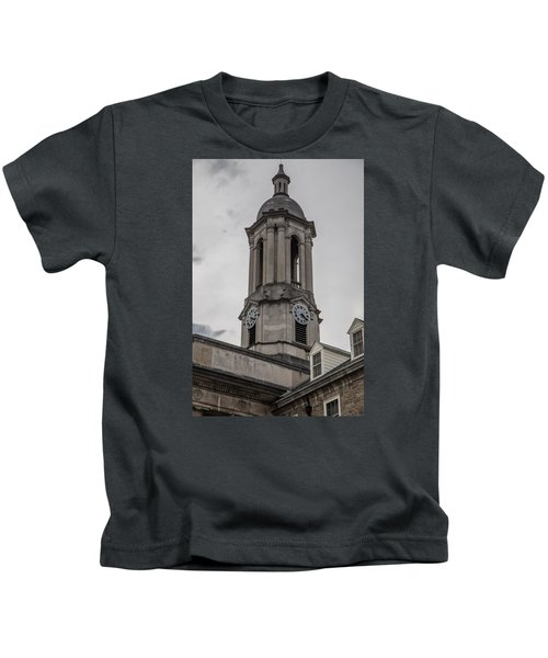 Old Main Penn State Clock  Kids T-Shirt by John McGraw
