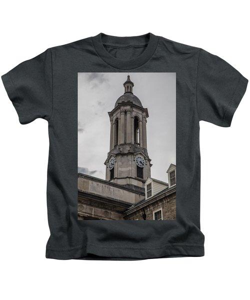 Old Main Penn State Clock  Kids T-Shirt