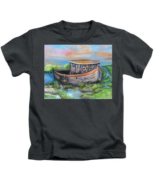 Old Mans Boat Kids T-Shirt