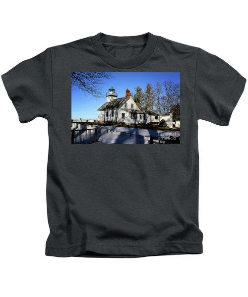 Old Mission Lighthouse Kids T-Shirt