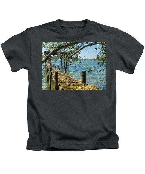 Old Pier On The Tred Avon Kids T-Shirt