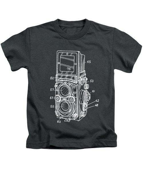 Old Rollie Vintage Camera White T-shirt Kids T-Shirt