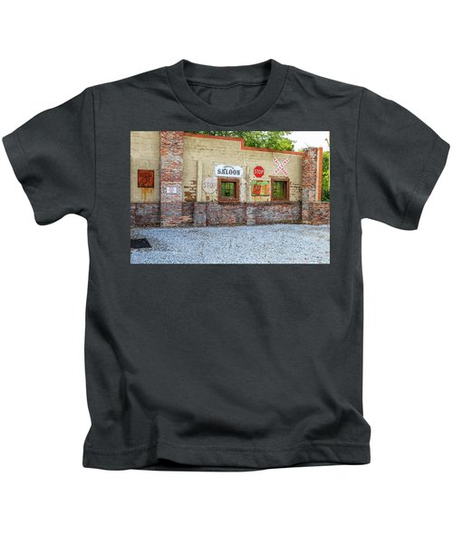 Old Saloon Wall Kids T-Shirt