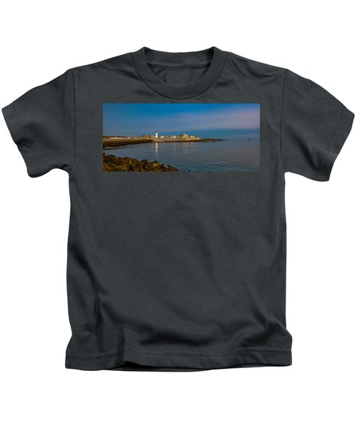Old Scituate Light From The Jetty Kids T-Shirt