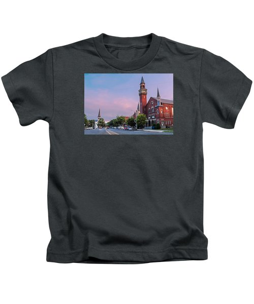 Old Town Hall Sunset Sky Kids T-Shirt