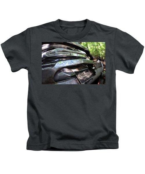 Kids T-Shirt featuring the photograph Oldsmobile Bumper Detail by Matthew Mezo
