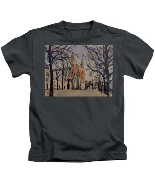 Olv Square On A Sunny Winter Afternoon Kids T-Shirt
