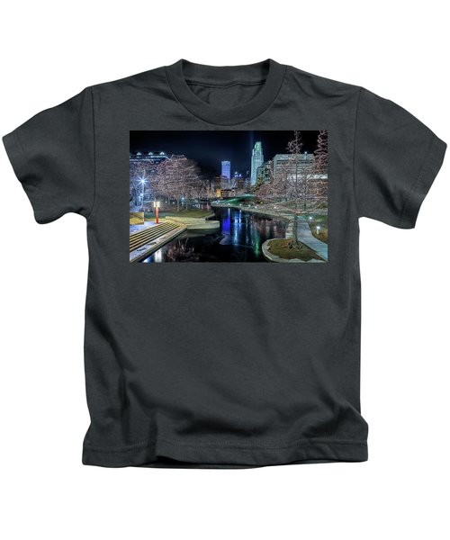 Omaha Holiday Lights Festival Kids T-Shirt