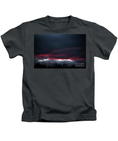 Ominous Autumn Sky Kids T-Shirt