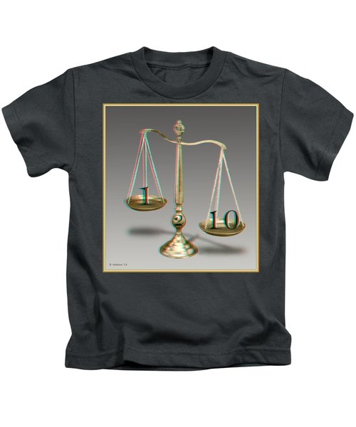 On A Scale Of - Use Red-cyan 3d Glasses Kids T-Shirt