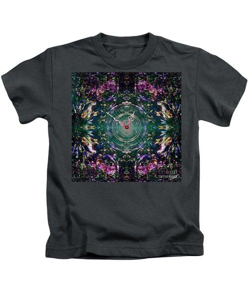 On The Clock Of Rose Garden Kids T-Shirt