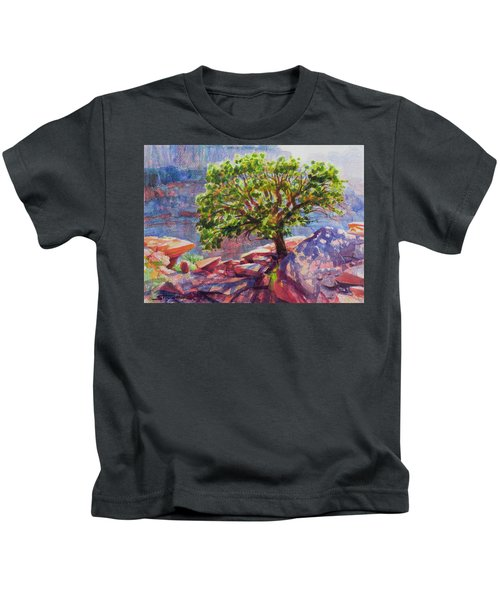 Living On The Edge Kids T-Shirt