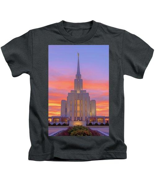 Oquirrh Mountain Temple IIi Kids T-Shirt