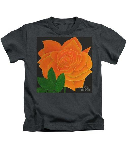 Orange Rose Kids T-Shirt