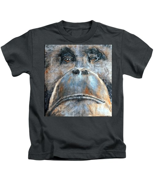 Orangutan Kids T-Shirt by Maureen Murphy