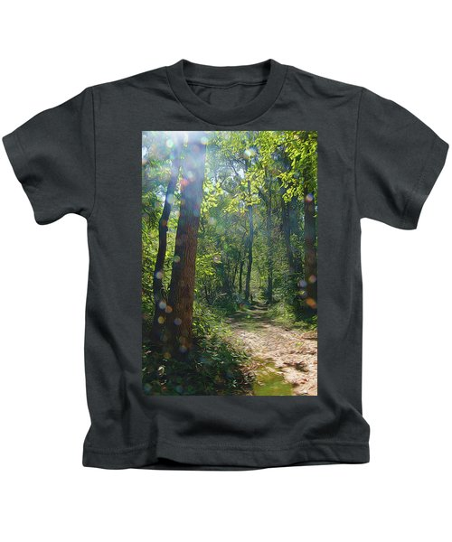Orbs In The Woods Kids T-Shirt